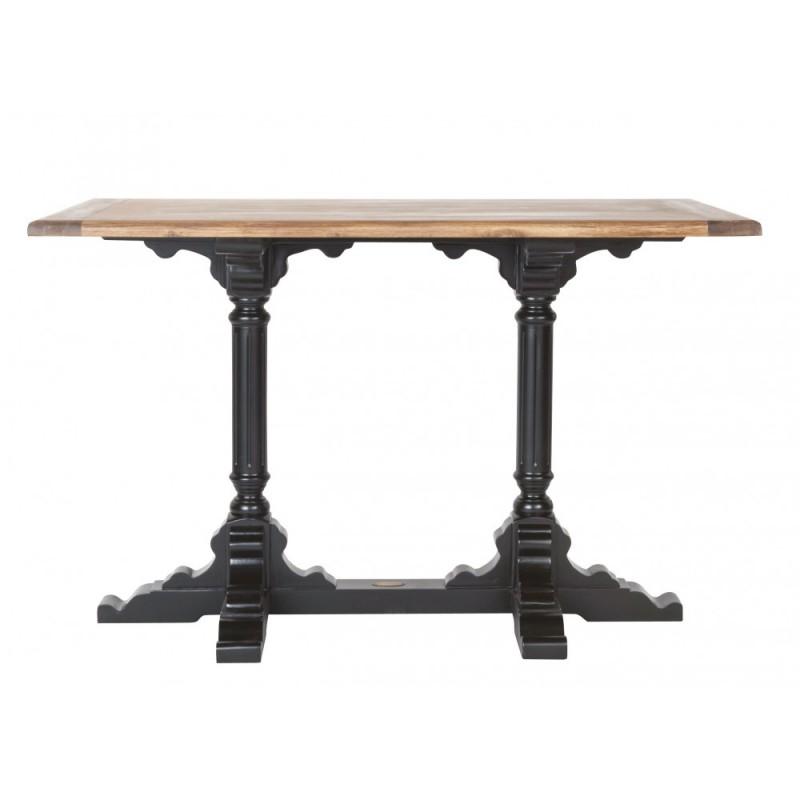 Table au plateau et piétement en bois d'acacia