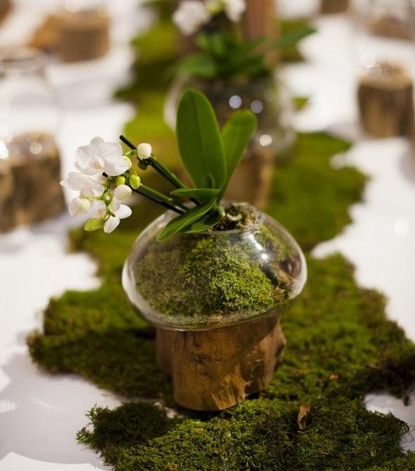 Vase Goutlet en verre soufflé bouche et bois de teck Joe Sayegh